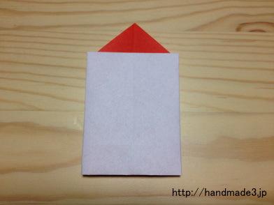 折り紙でクリスマスキャンドル