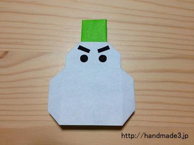 折り紙の雪だるま