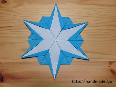 折り紙の雪の結晶
