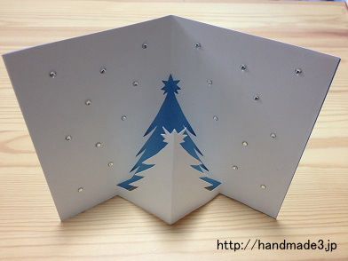 立体のクリスマスカードを手作りした