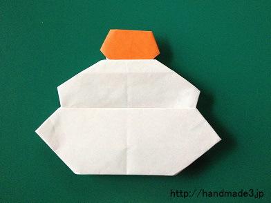 折り紙で鏡餅を折った