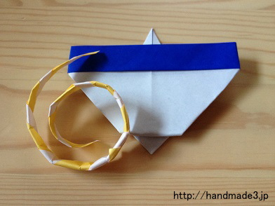 折り紙でこまを作ってみた