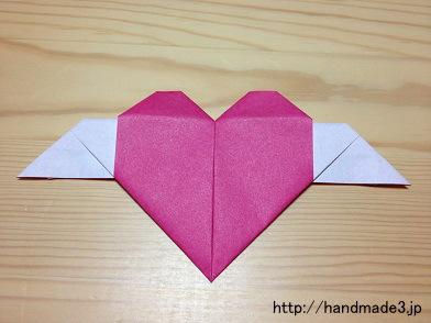 簡単 折り紙 折り紙でハートの作り方 : handmade3.jp