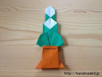 お正月の門松を折り紙で折った
