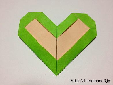 折り紙でフレームハートを折ってみた
