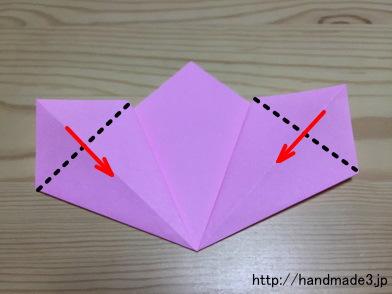 クリスマス 折り紙 折り紙 桜 折り方 : handmade3.jp
