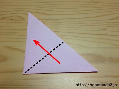ハート 折り紙:折り紙梅の花折り方-handmade3.jp