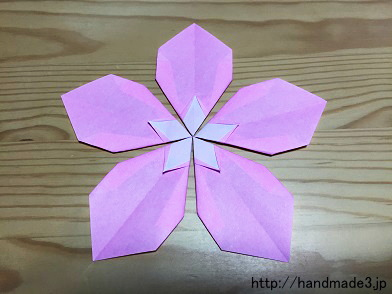 折り 折り紙:立体折り紙 花 折り方-handmade3.jp