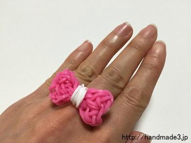 ファンルームでリボンの指輪を作った