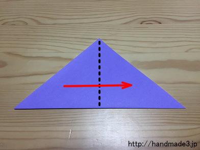 ハート 折り紙 折り紙 あやめの折り方 : handmade3.jp