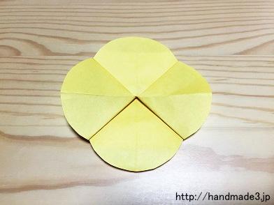 折り紙で菜の花を折った