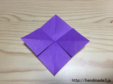 折り紙であじさいを折った