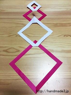 折り紙で七夕飾りの四角つながりを作った