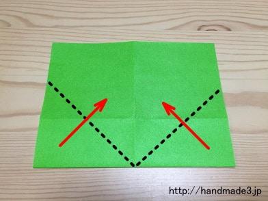 折り紙の 折り紙 クローバー 折り方 : handmade3.jp