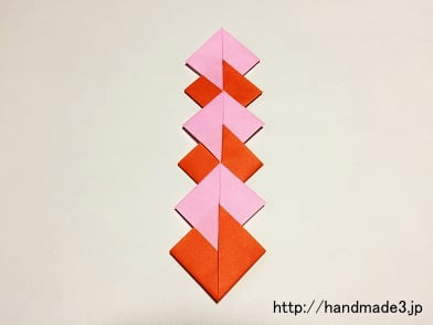 折り紙で七夕の菱飾りを折った