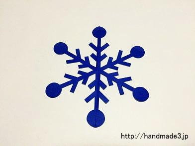 雪の結晶の切り方