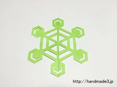 雪の結晶を作った