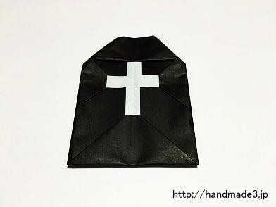 折り紙でハロウィンのお墓を折った