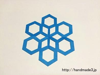 六角形の雪の結晶
