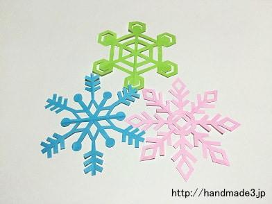 いろいろな雪の結晶