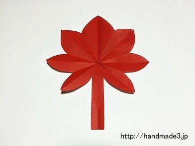 折り紙でもみじを作った