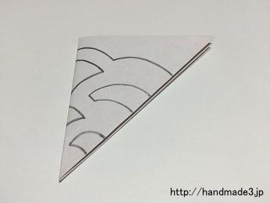 切り紙花のモチーフの作り方⑨
