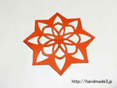 切り紙の花